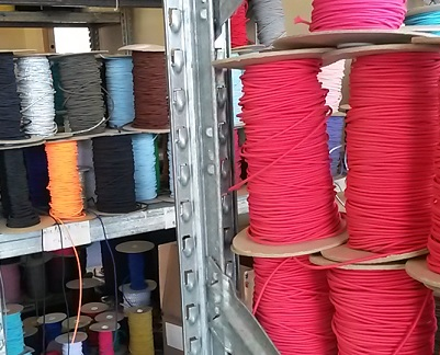stock shelves of elastic cord